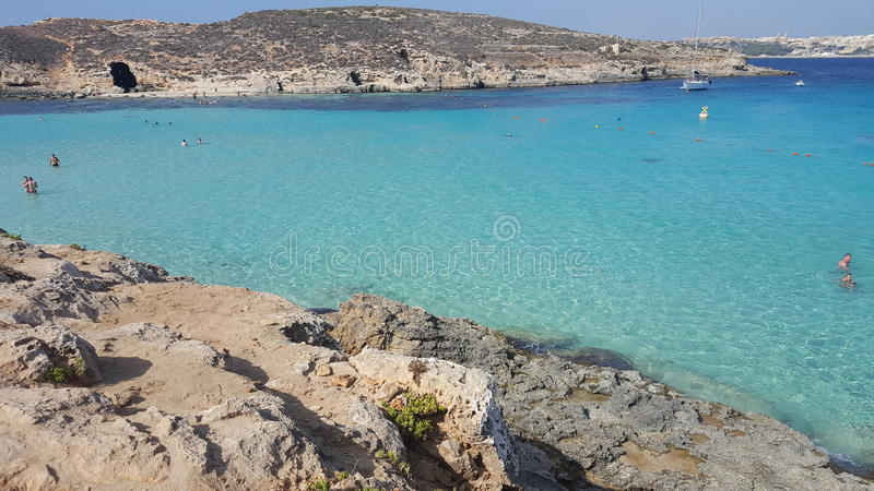 Blauwe Lagune Gozo stock fotografie