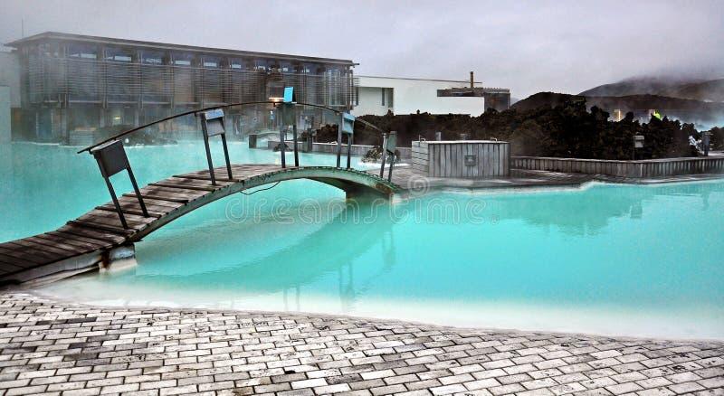 Blauwe lagune in IJsland stock afbeeldingen