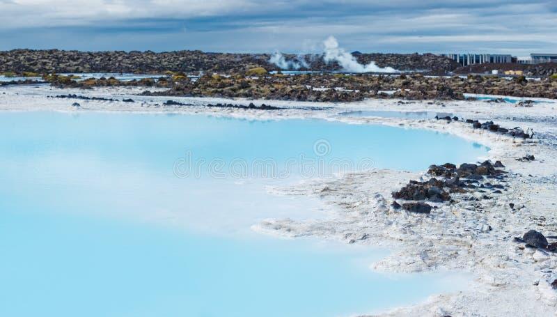 Blauwe Lagune, IJsland stock foto's