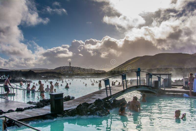 Blauwe lagune in IJsland royalty-vrije stock afbeeldingen