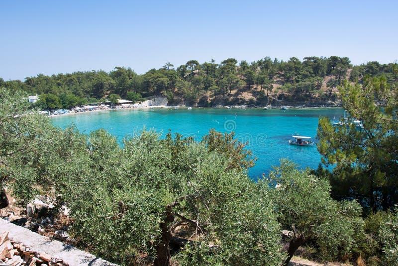 Blauwe lagune in Middellandse Zee 2 royalty-vrije stock afbeeldingen