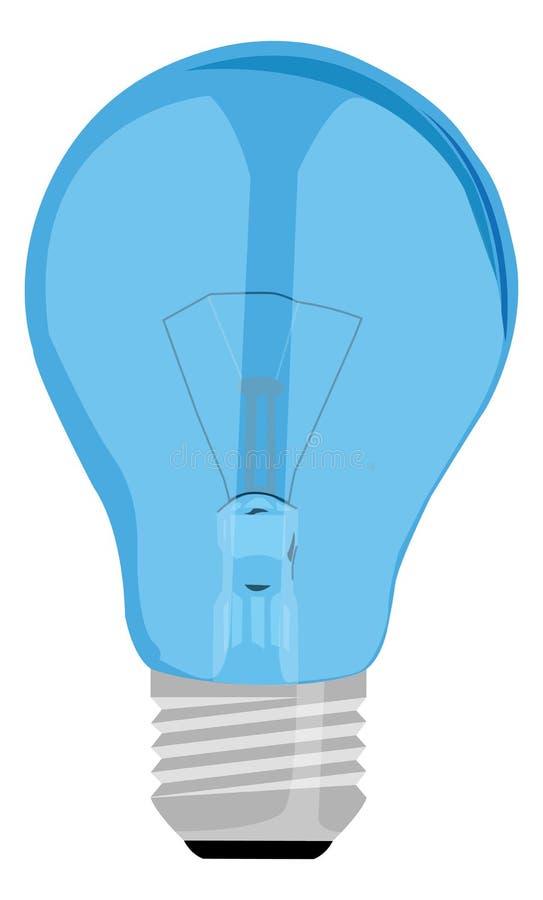 Blauwe lamp stock illustratie