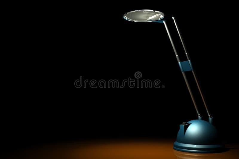 Blauwe lamp op zwarte royalty-vrije illustratie
