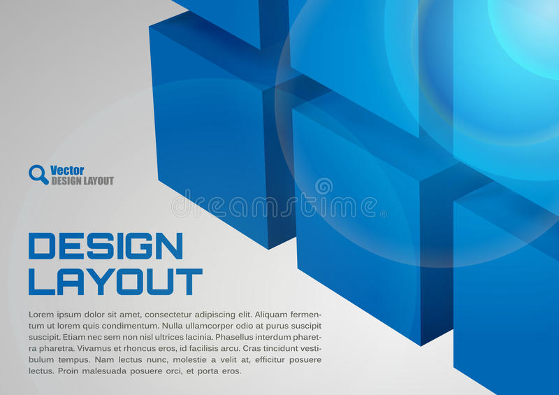 Blauwe Lay-out vector illustratie