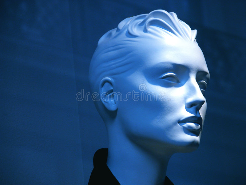 Blauwe ledenpop royalty-vrije stock foto's
