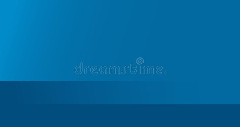 Blauwe, lege moderne achtergrond Vectorproduct voor vertoning van inhoudsontwerp stock illustratie