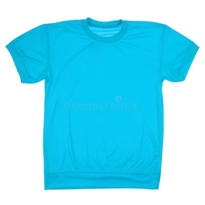 Blauwe lege t-shirt (het Knippen weg) royalty-vrije stock foto