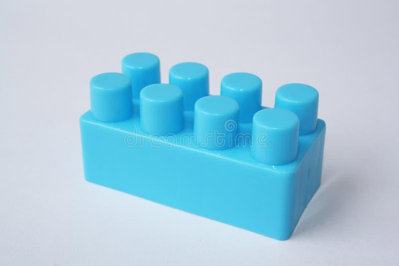 Blauwe Lego royalty-vrije stock afbeeldingen