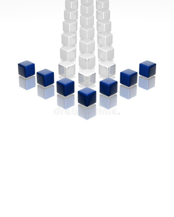 Blauwe leider vector illustratie