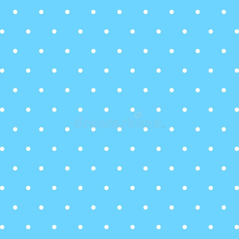 Blauwe leuke achtergrond met witte punten  stock illustratie