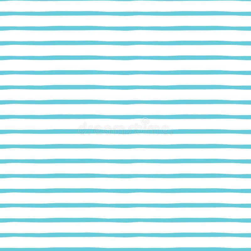 Blauwe leuke gestreepte structuur Vector abstracte achtergrond Naadloos patroon royalty-vrije illustratie