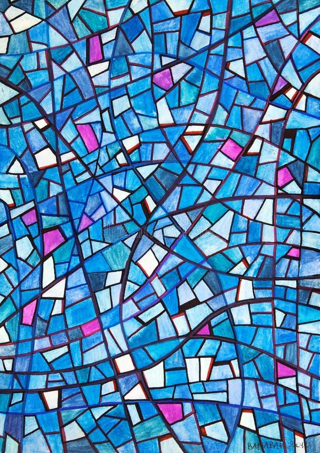 Blauwe licht-vrede royalty-vrije stock afbeeldingen