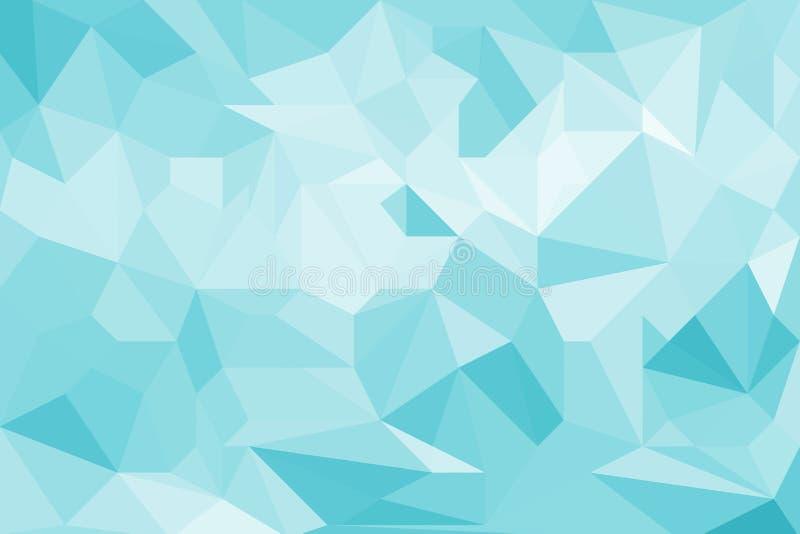 Blauwe lichte abstracte geometrische textuur als achtergrond royalty-vrije illustratie