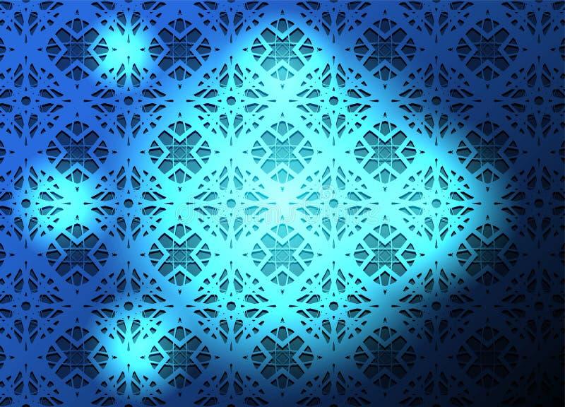 Blauwe lichte abstracte vectorachtergrond stock illustratie