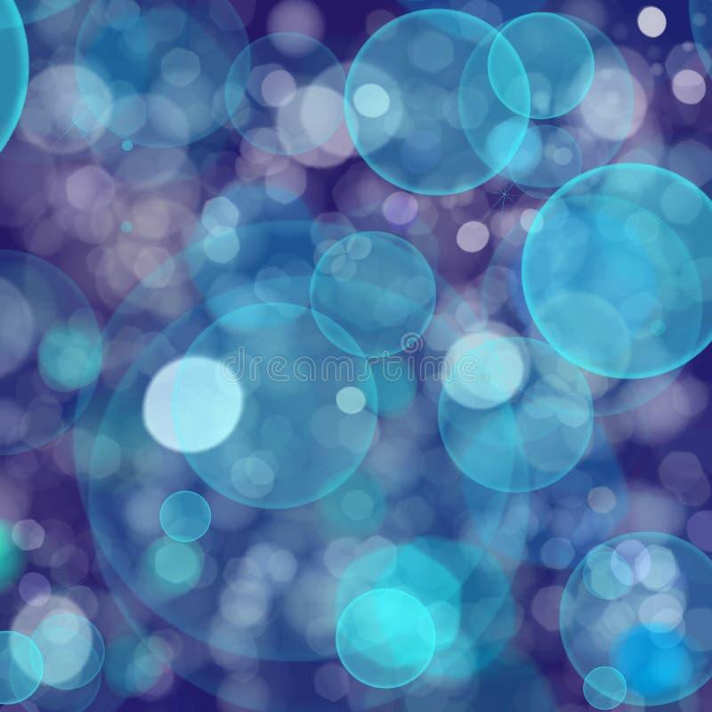 Blauwe Lichte Achtergrond Bokeh stock illustratie