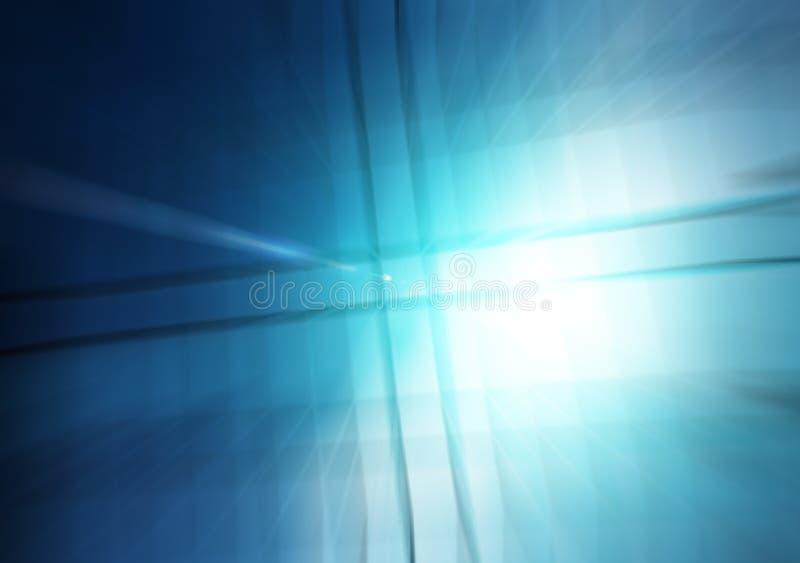 Blauwe Lichte Golf Abstracte Achtergrond vector illustratie