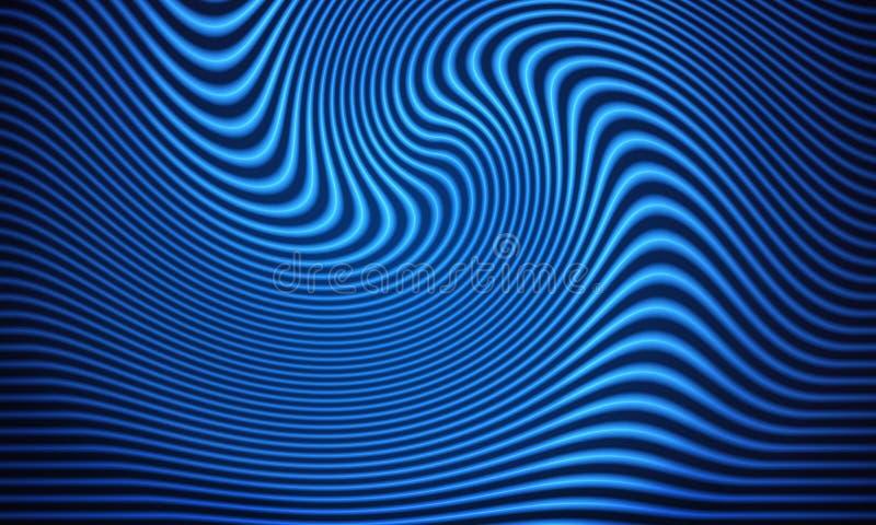 Blauwe lichte strookachtergrond stock foto