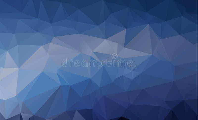 Blauwe Lichte Veelhoekige Lage het Patroonachtergrond van de veelhoekdriehoek royalty-vrije illustratie