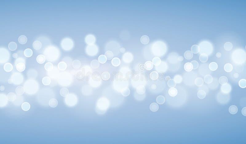 Blauwe lichtenachtergronden royalty-vrije illustratie