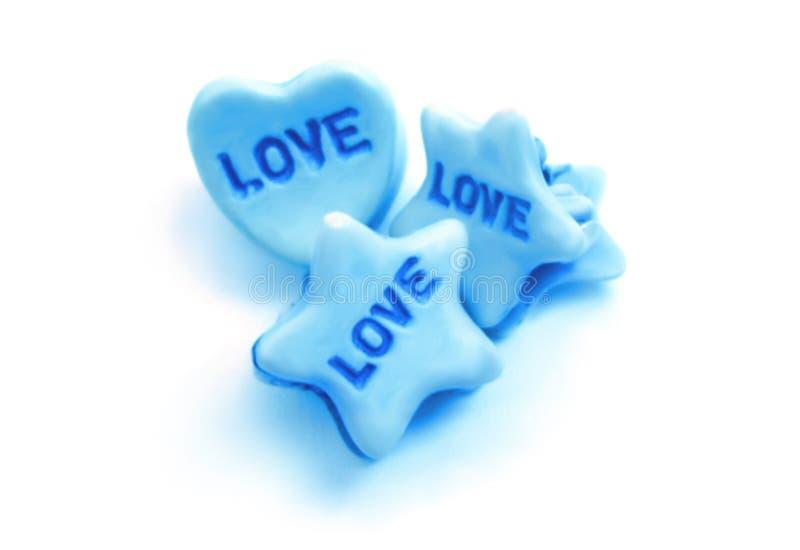 Blauwe liefde royalty-vrije stock afbeelding