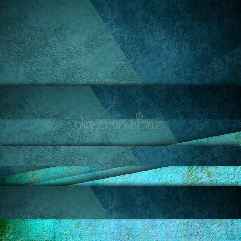 Blauwe lijnenkaart als achtergrond stock illustratie
