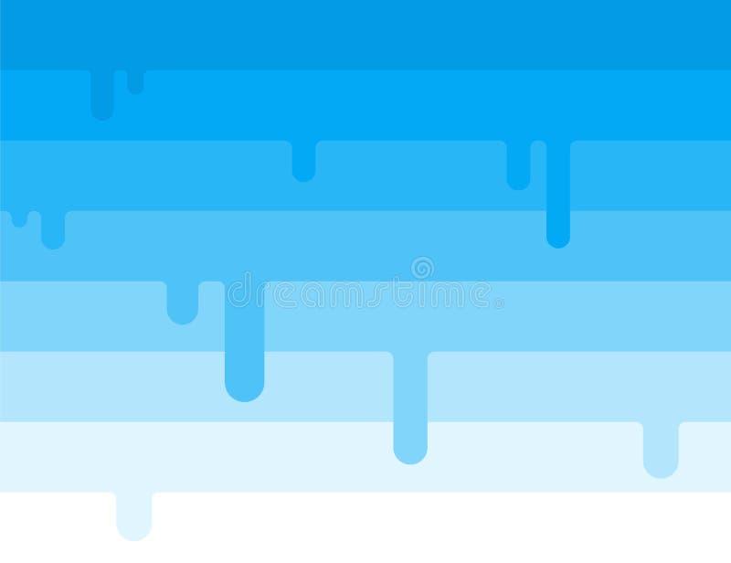 Blauwe lijnvector met de druipende abstracte achtergrond van het roomijsconcept stock illustratie