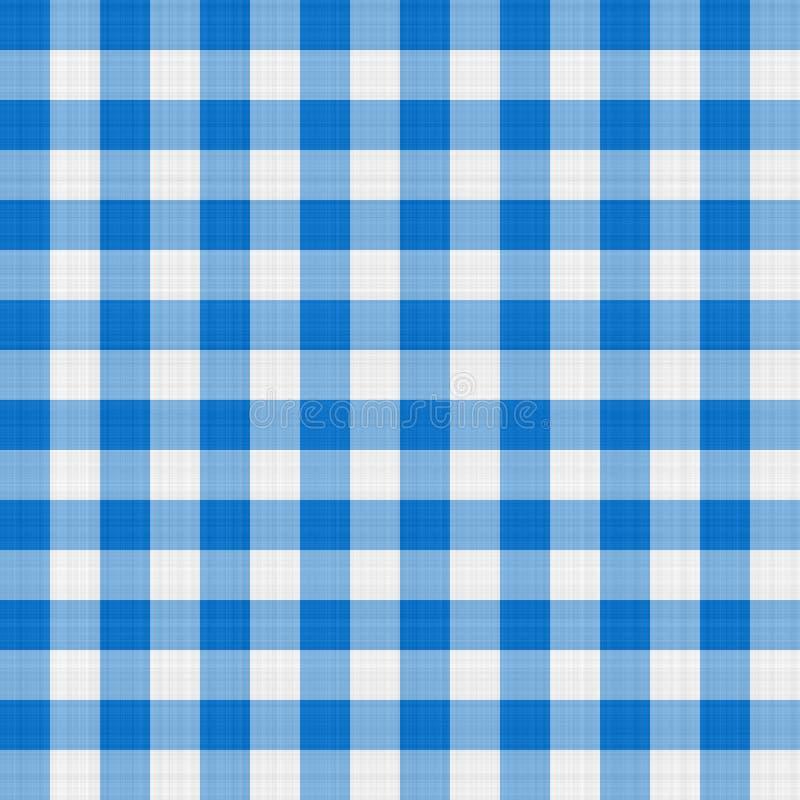 Blauwe lijstdoek stock afbeelding