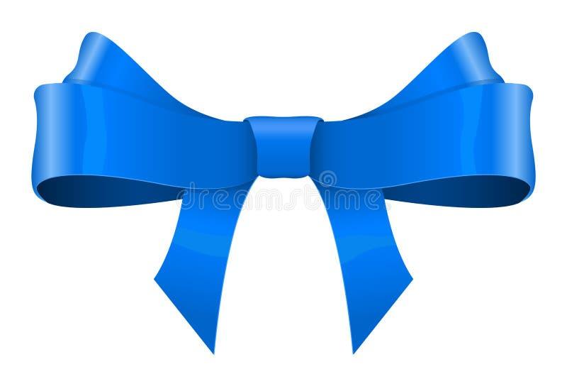 Blauwe lintboog vector illustratie