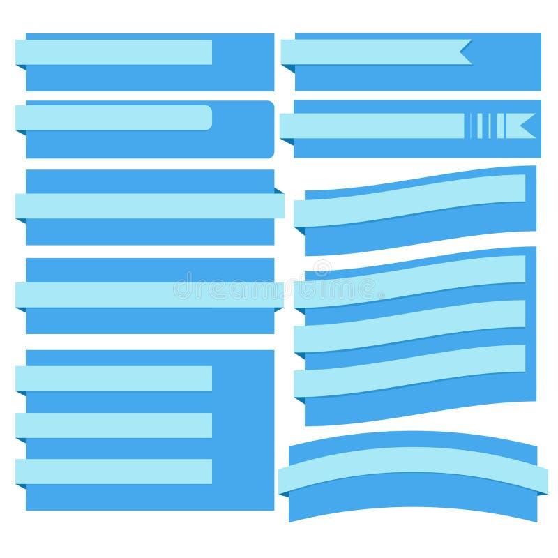 Blauwe linten - Illustratie stock illustratie