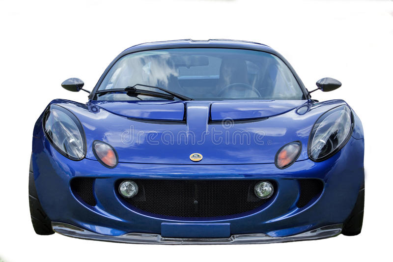 Blauwe Lotus On White stock foto