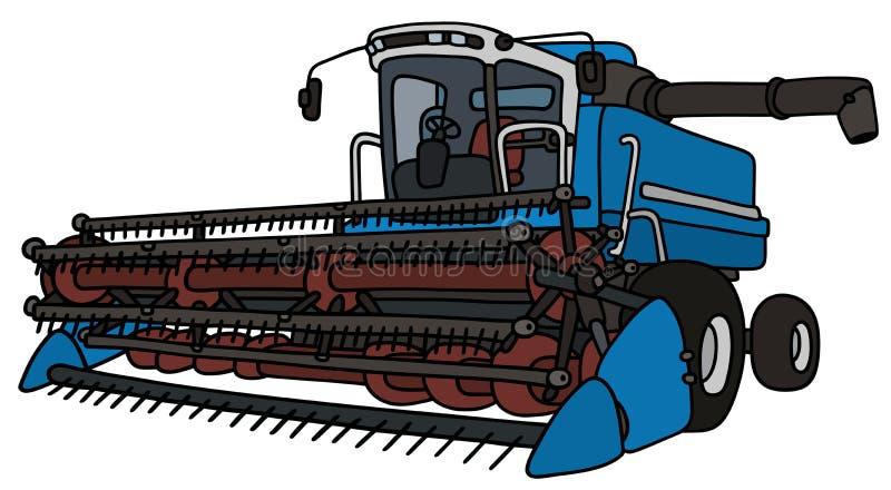Blauwe maaimachine stock illustratie
