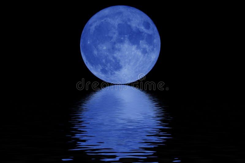 Blauwe maan stock illustratie