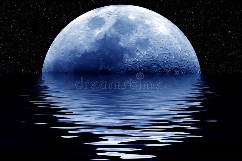 Blauwe maan royalty-vrije illustratie