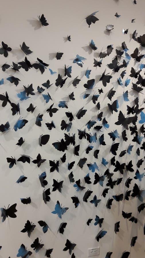 Blauwe mariposas royalty-vrije stock afbeelding
