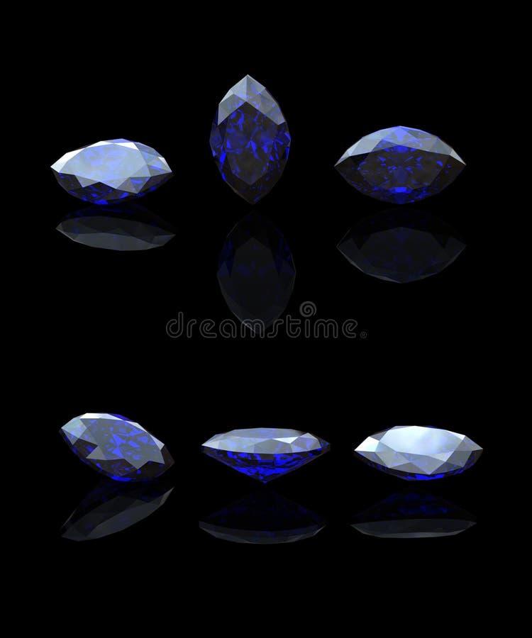Blauwe markies. Benitoit. Saffier vector illustratie