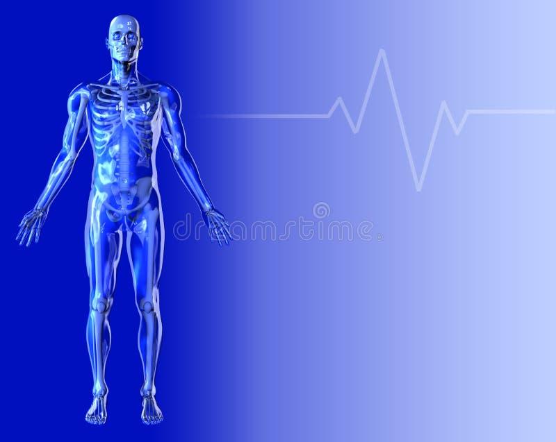 Blauwe Medische Achtergrond 2 royalty-vrije illustratie