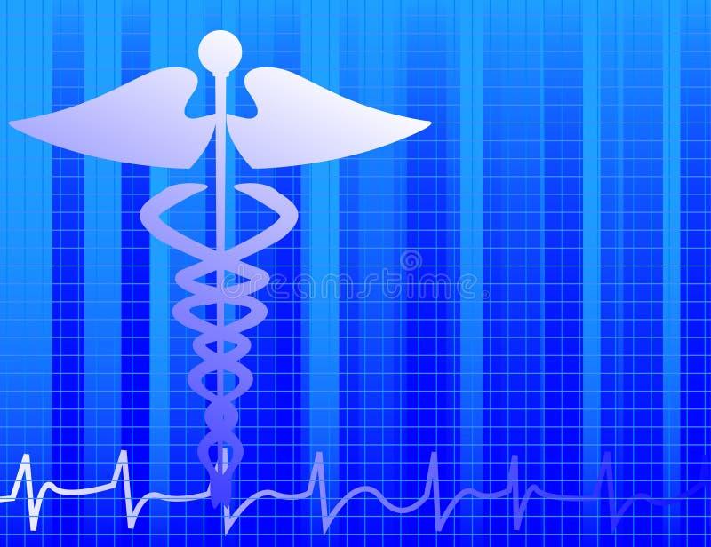 Blauwe medische achtergrond stock illustratie