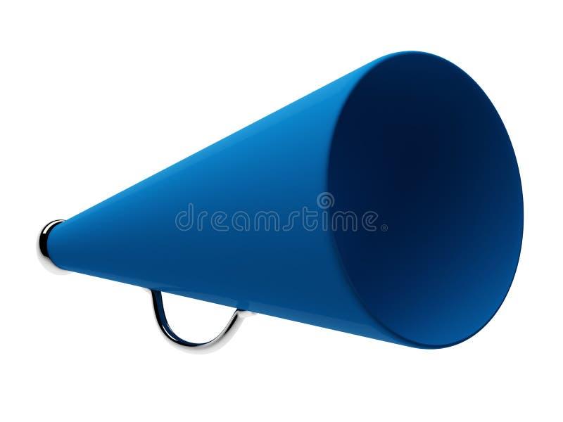 Blauwe megafoon vector illustratie