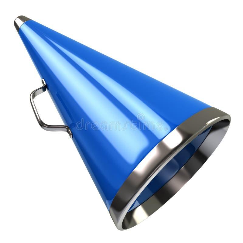 Blauwe megafoon royalty-vrije illustratie