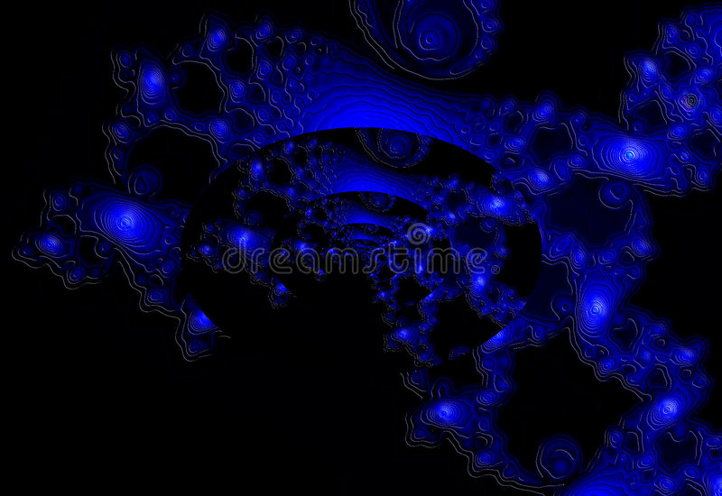 Blauwe Melkweg royalty-vrije stock fotografie