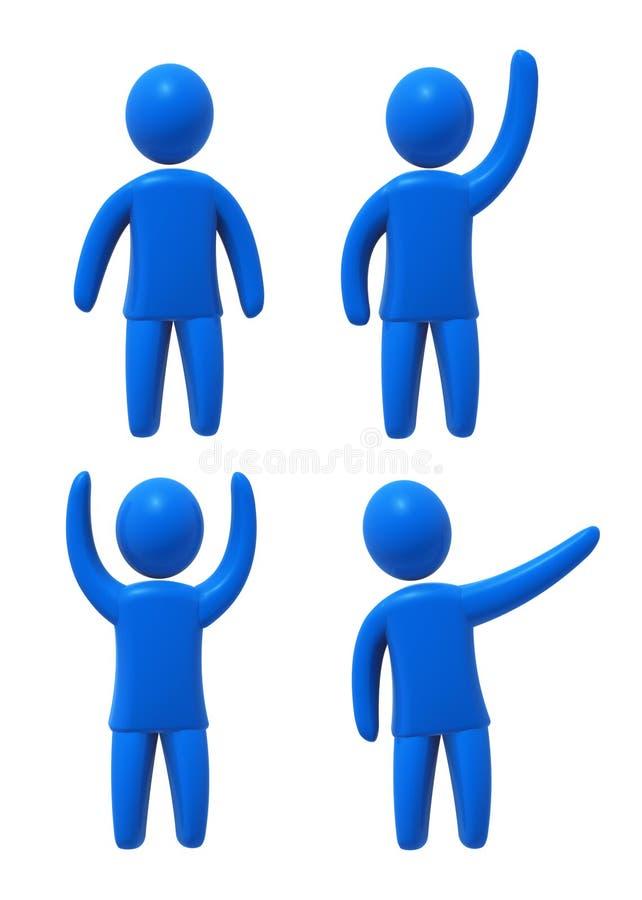Blauwe mens vector illustratie