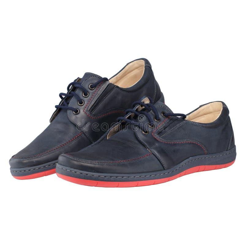 Blauwe Mensen` s Schoenen stock foto