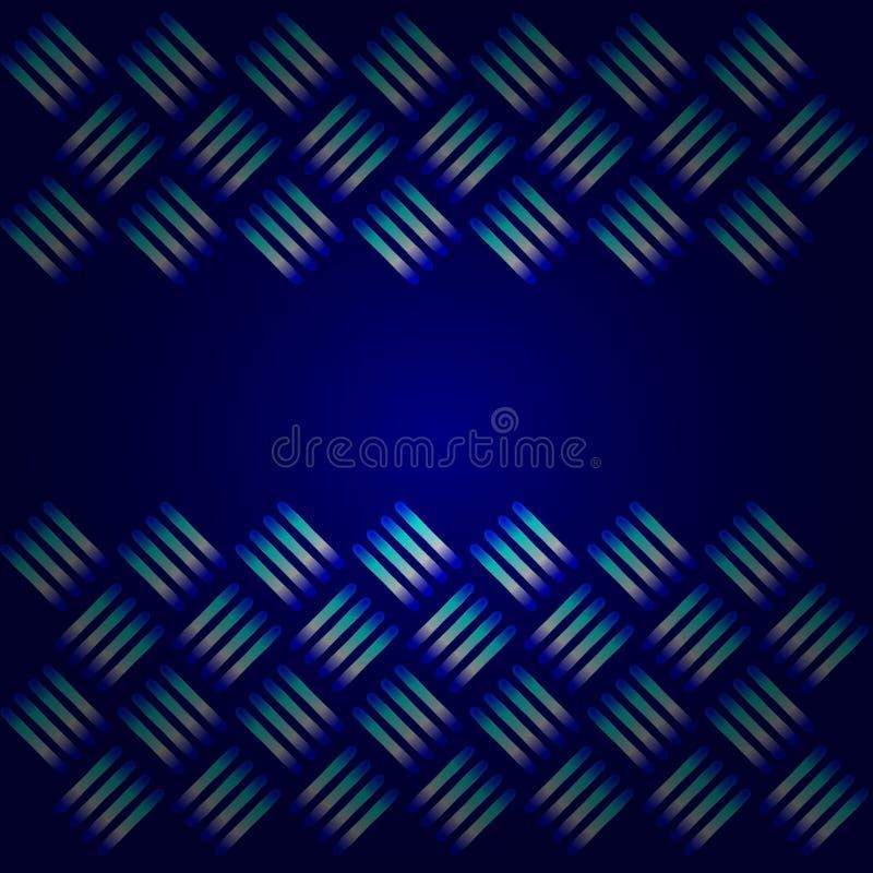 Blauwe MetaalAchtergrond stock illustratie