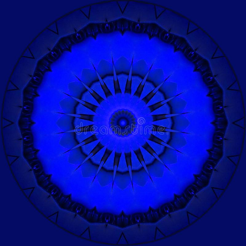 Blauwe metaalsterren op koningsblauwen vector illustratie