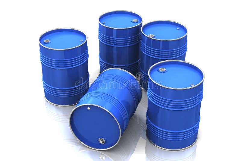 Blauwe metaalvaten stock afbeelding