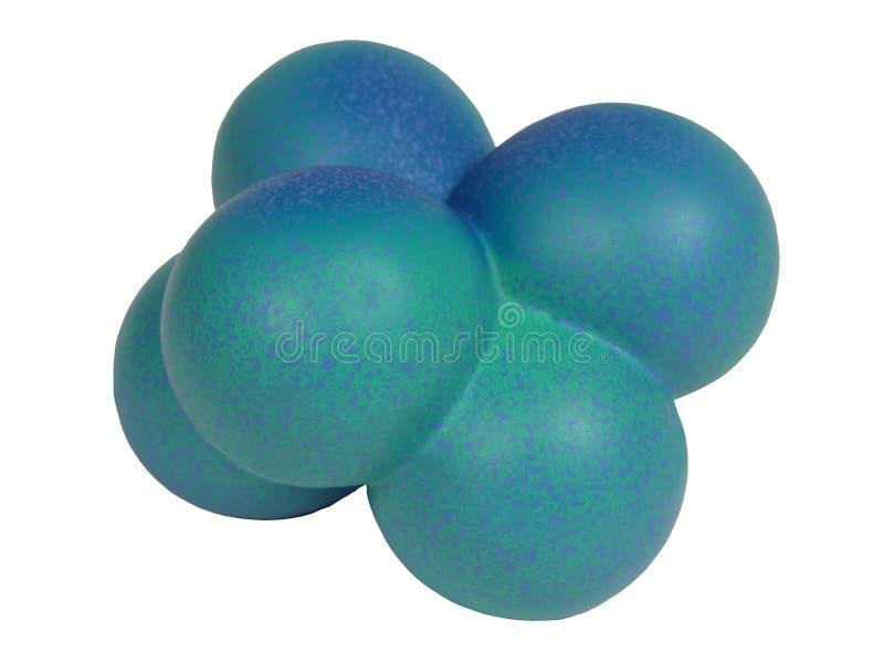 Blauwe moleculevorm - het knippen weg stock afbeelding