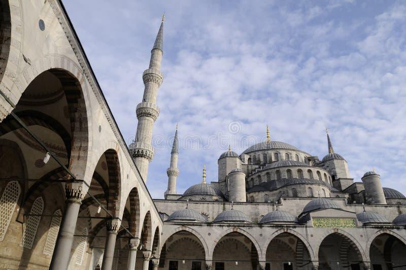 Blauwe moskee stock fotografie
