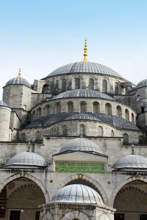 Blauwe Moskee, de Bestemming van de Reis, Istanboel Turkije royalty-vrije stock foto