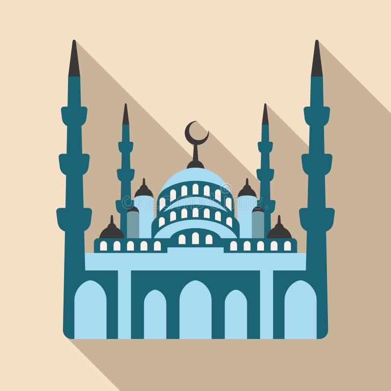Blauwe Moskee, het oriëntatiepuntpictogram van Istanboel Vector illustratie royalty-vrije illustratie