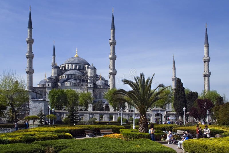 Blauwe Moskee in Istanboel stock foto's